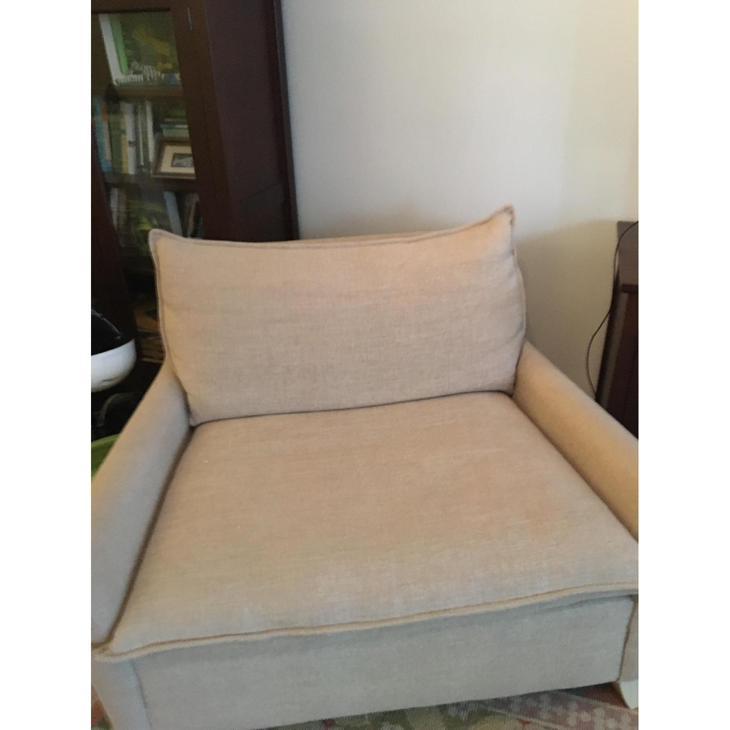 West Elm Bliss Chairs and a Half & Ottoman-1