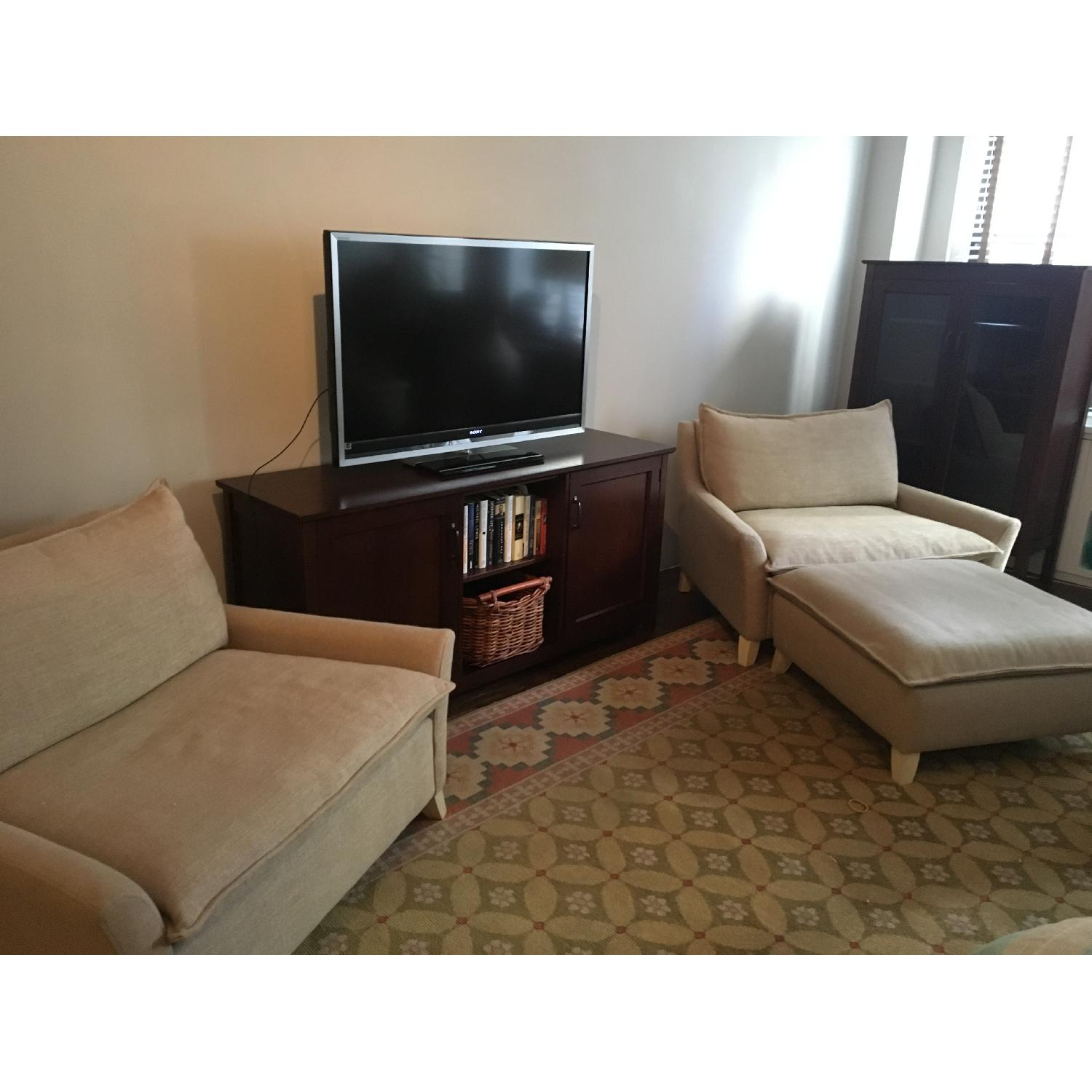West Elm Bliss Chairs and a Half & Ottoman-5
