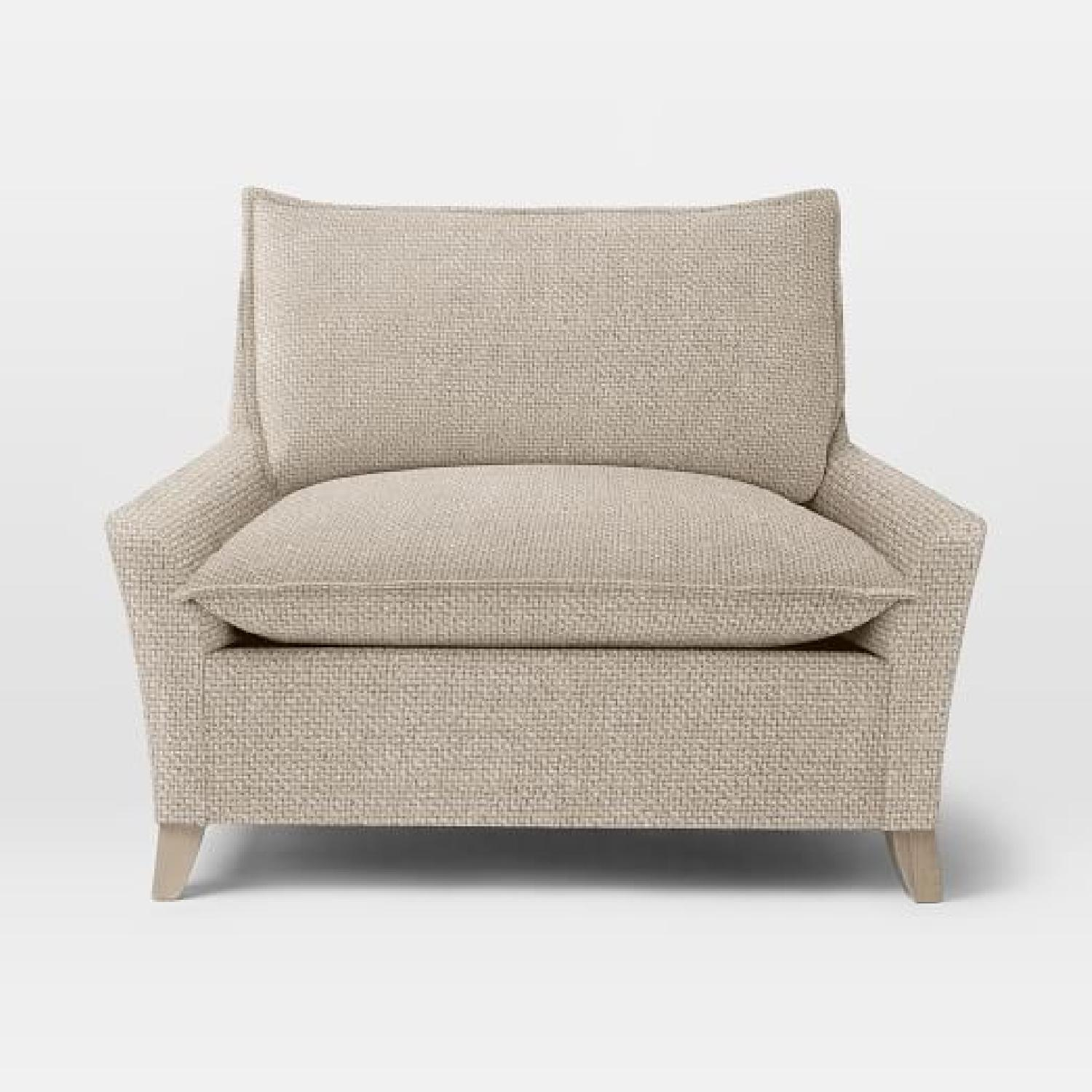 West Elm Bliss Chairs and a Half & Ottoman