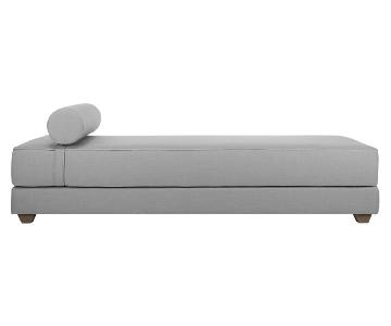 CB2 Lubi Silver Grey Sleeper Daybed