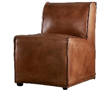 Restoration Hardware Bruno Leather Side Chair