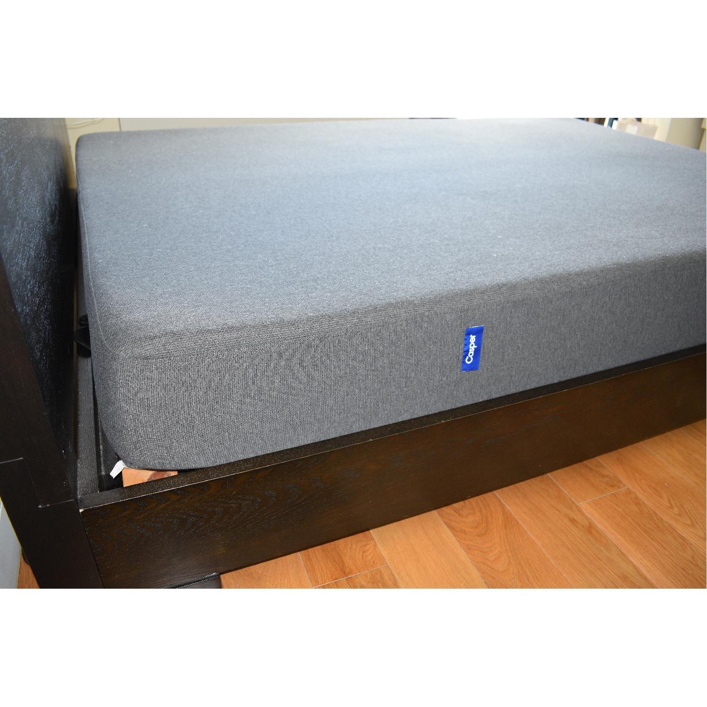 West Elm Chunky Espresso Queen Bed Frame Aptdeco