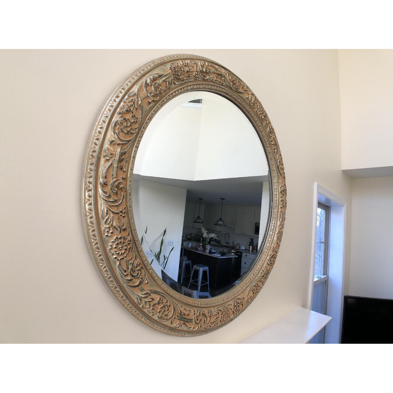 Bombay Co. Framed Round Wall Mirror-0