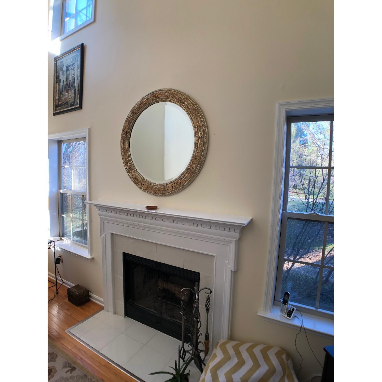 Bombay Co. Framed Round Wall Mirror-1