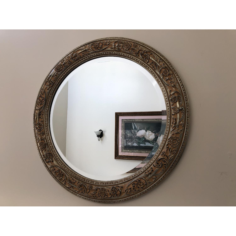 Bombay Co. Framed Round Wall Mirror-2