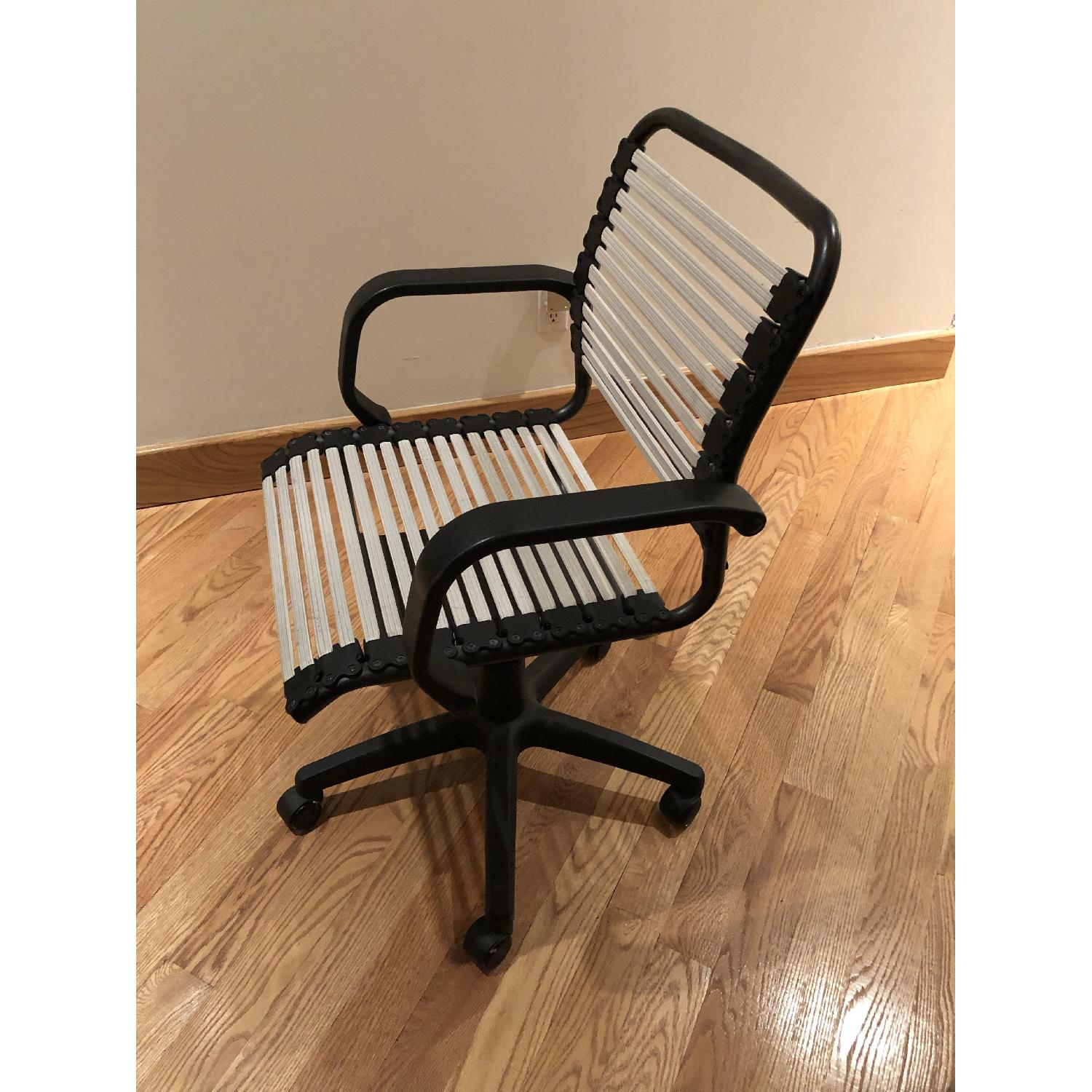 Container Store White Flat Bungee Office Chair w/ Arms-1