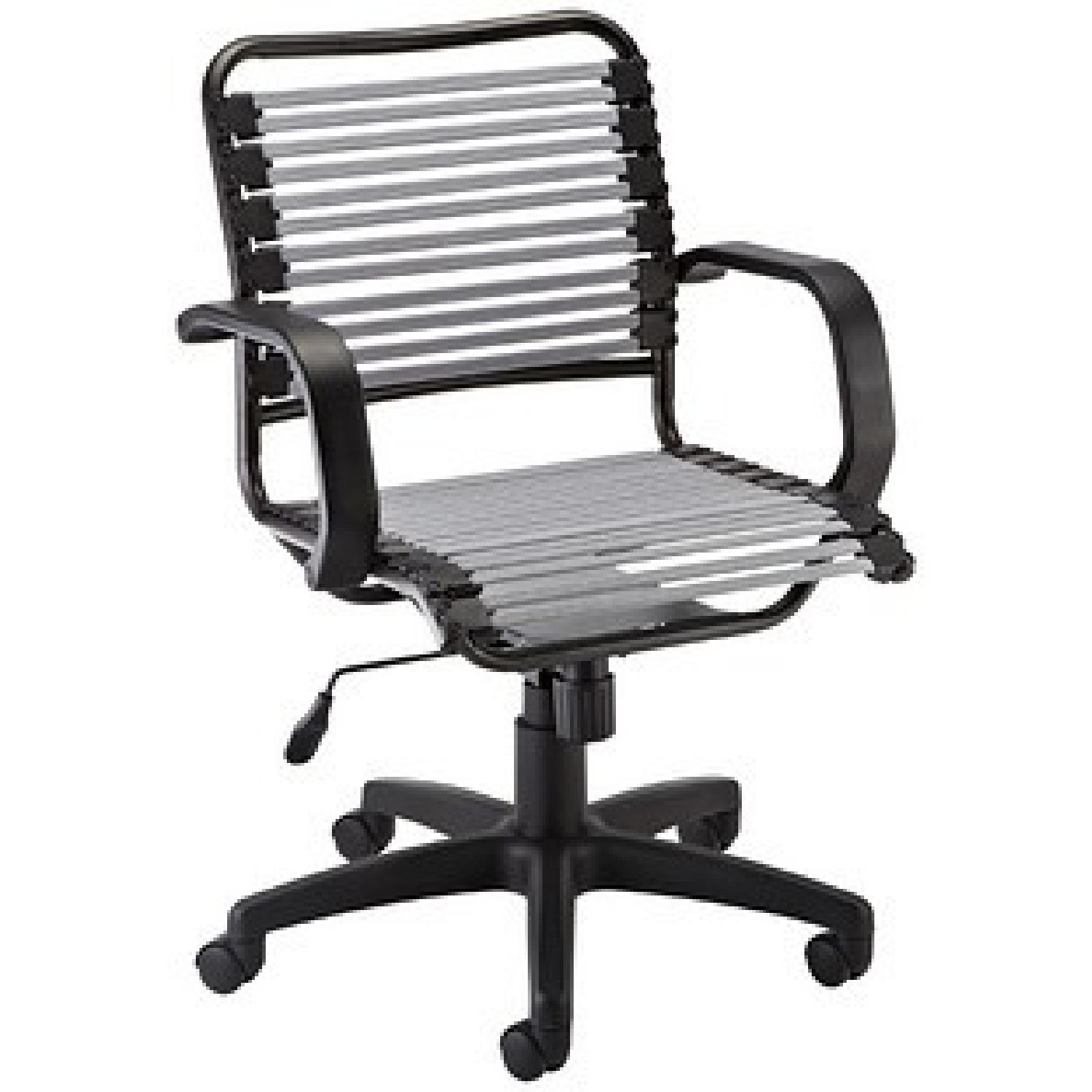 Container Store White Flat Bungee Office Chair w/ Arms