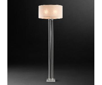 Restoration Hardware French Column Glass Floor Lamp