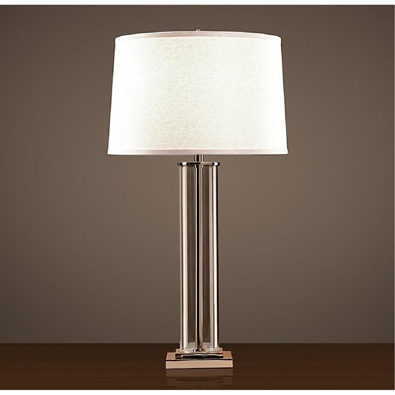 Restoration Hardware French Column Glass Table Lamp Aptdeco