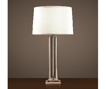 Restoration Hardware French Column Glass Table Lamp