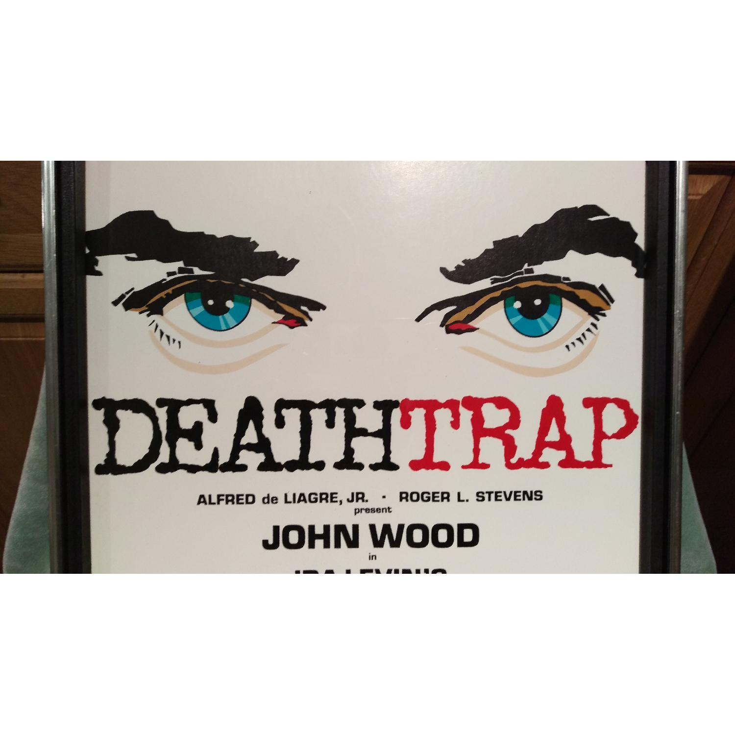 Death Trap Broadway Play Sign - 1970s Framed-0