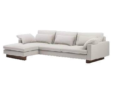 West Elm Harmony Left Chaise Sectional Sofa