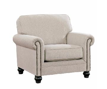 Jennifer Furniture Milari Sofa Chair & Ottoman