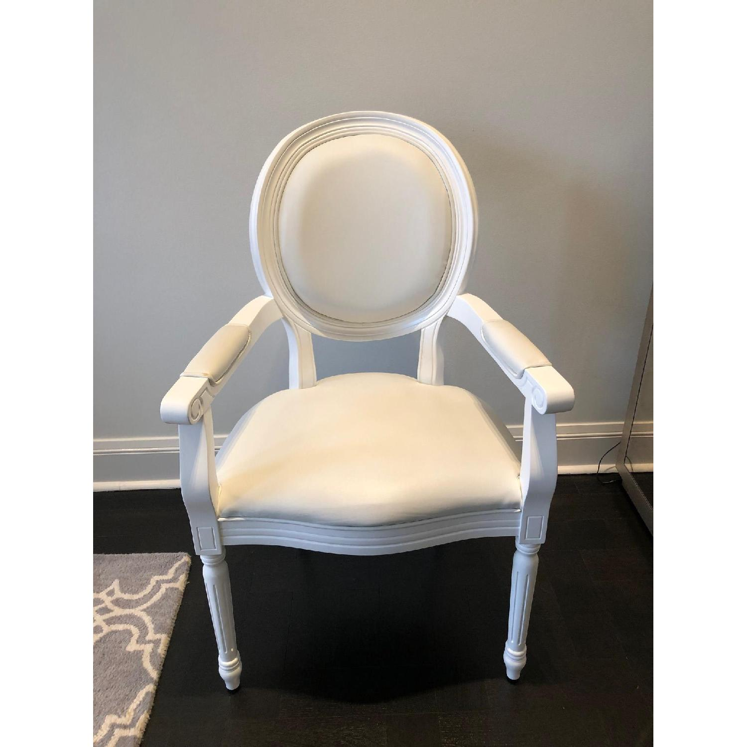 White Louis Style Dining Chairs-1