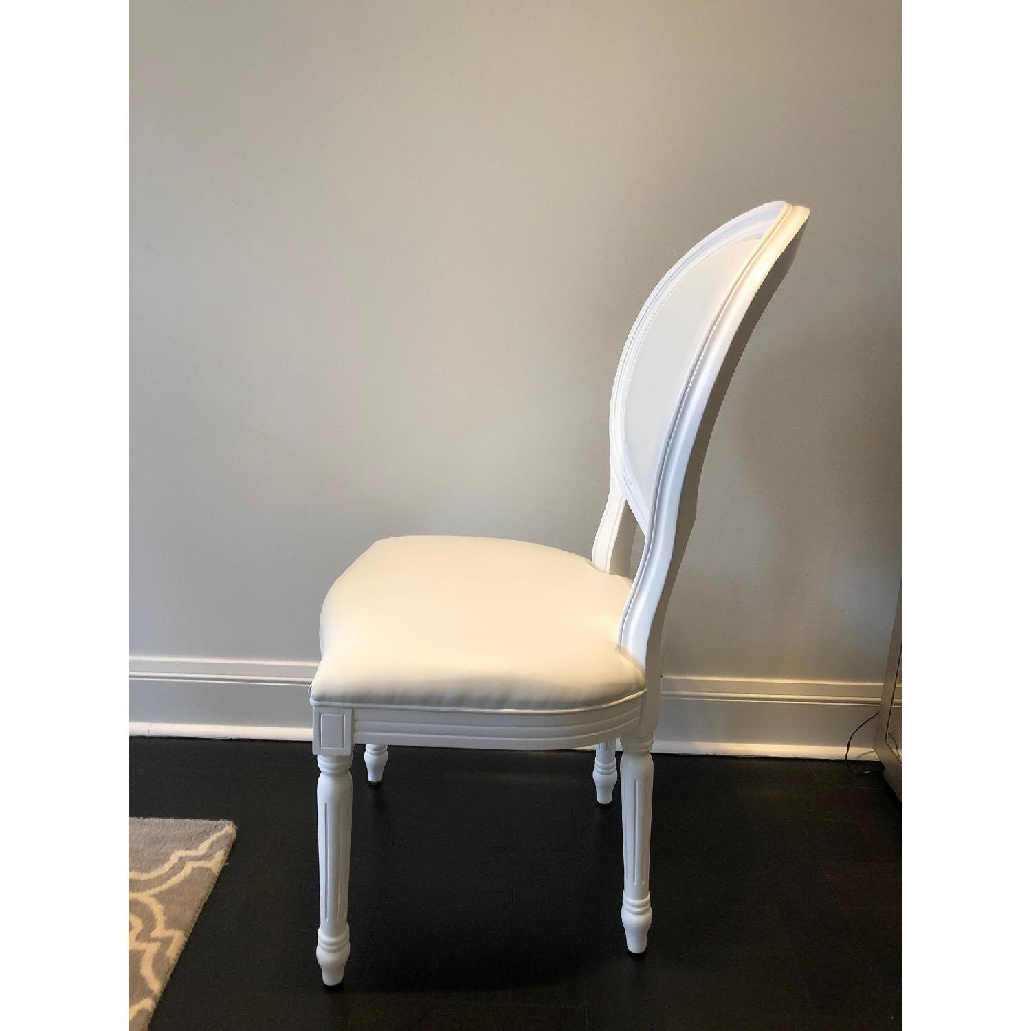 White Louis Style Dining Chairs-2