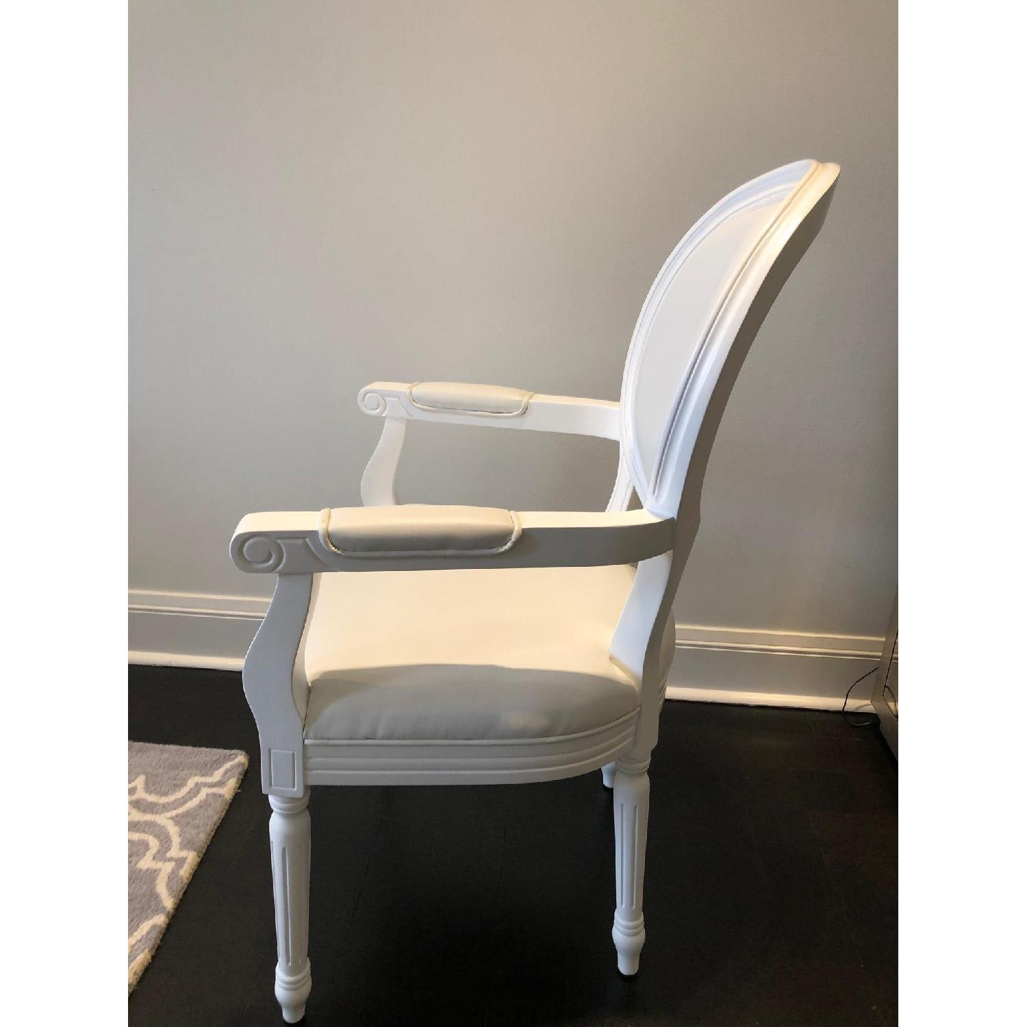 White Louis Style Dining Chairs-3