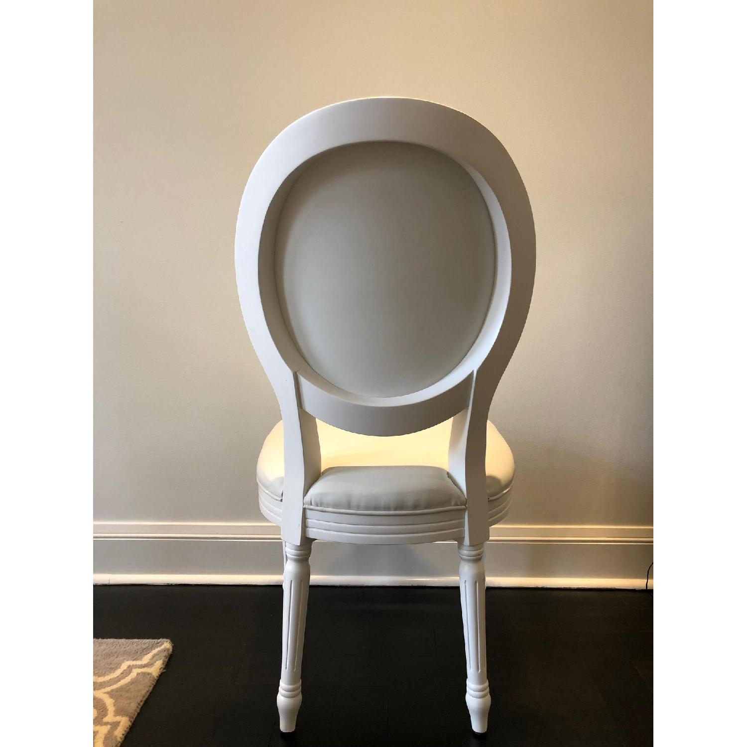 White Louis Style Dining Chairs-4