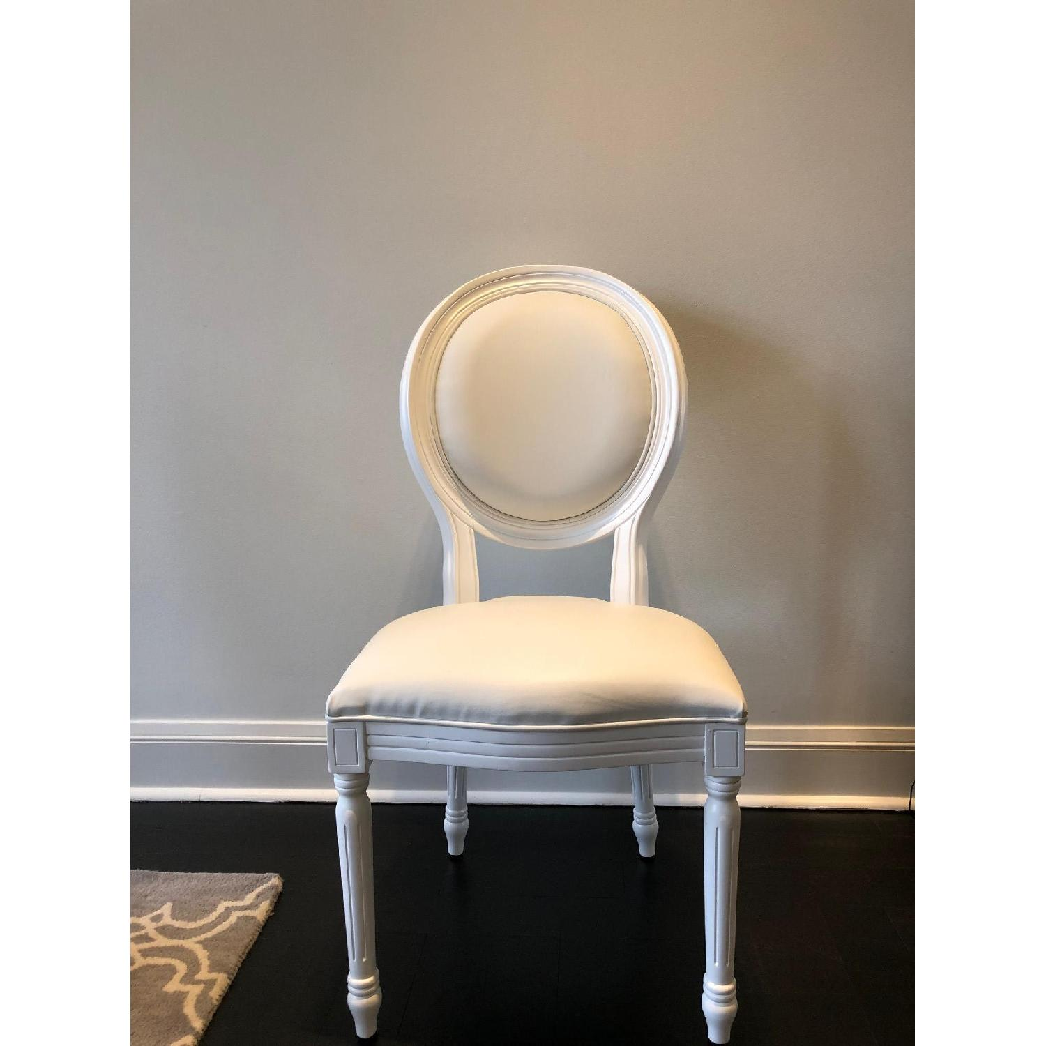 White Louis Style Dining Chairs-5