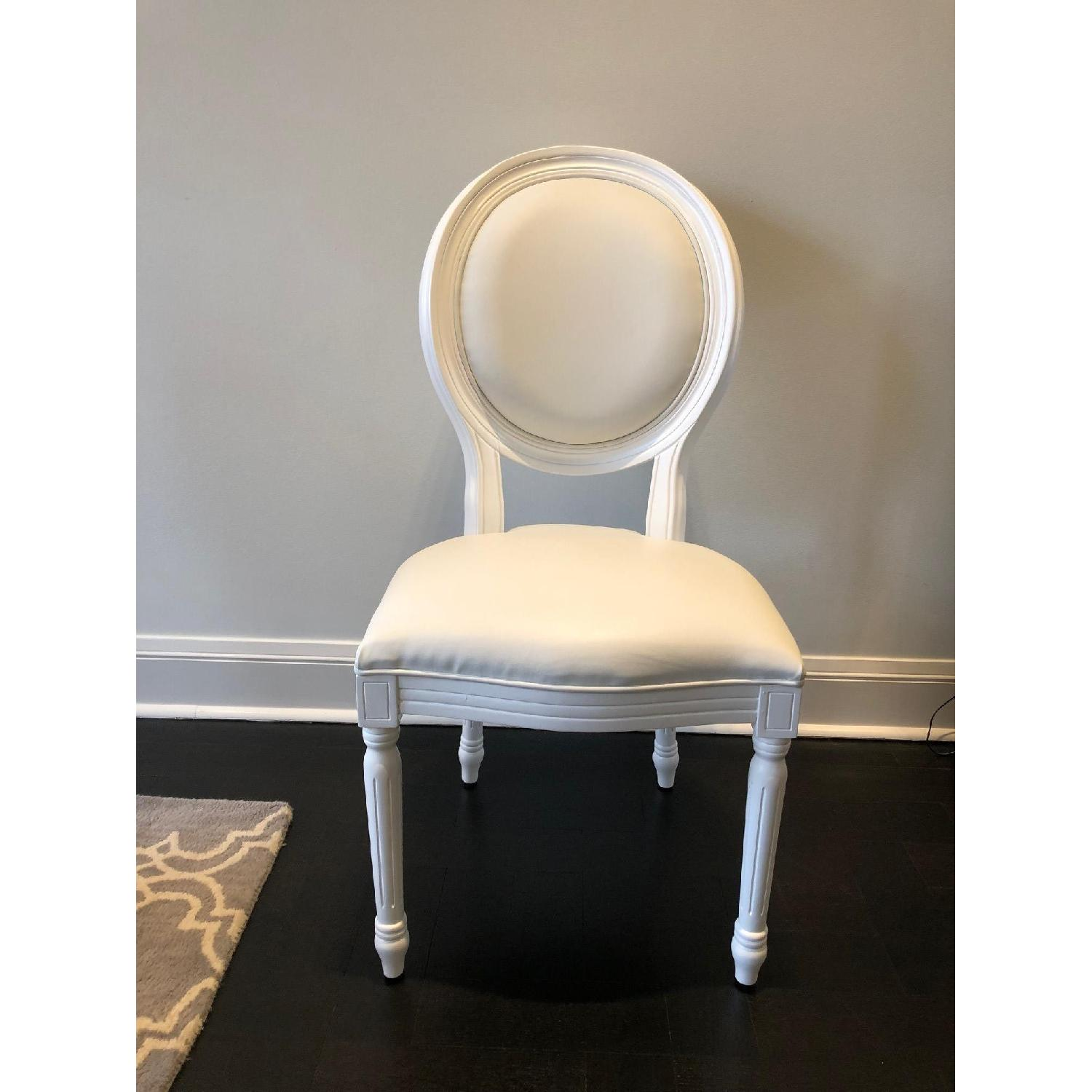White Louis Style Dining Chairs-6