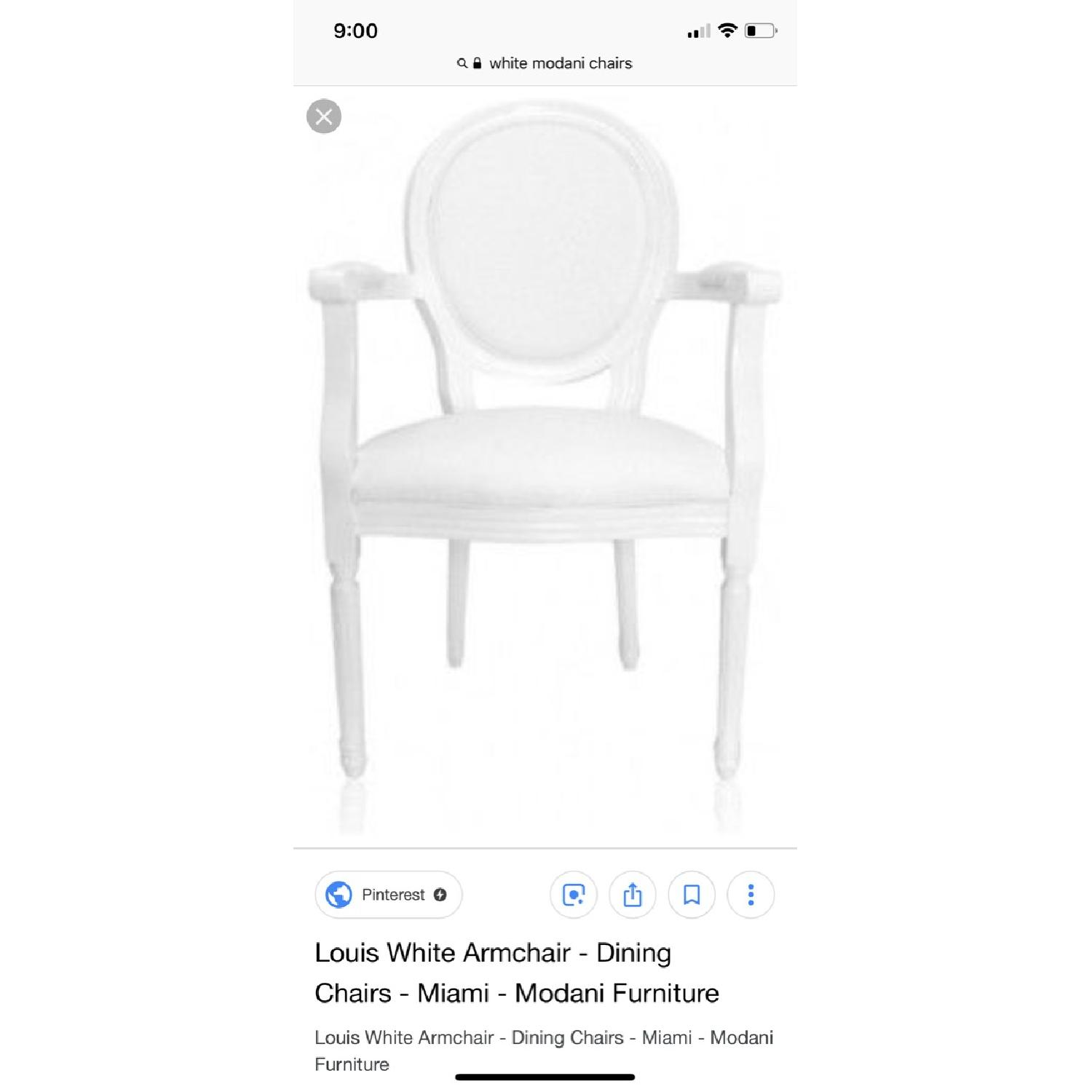 White Louis Style Dining Chairs-9