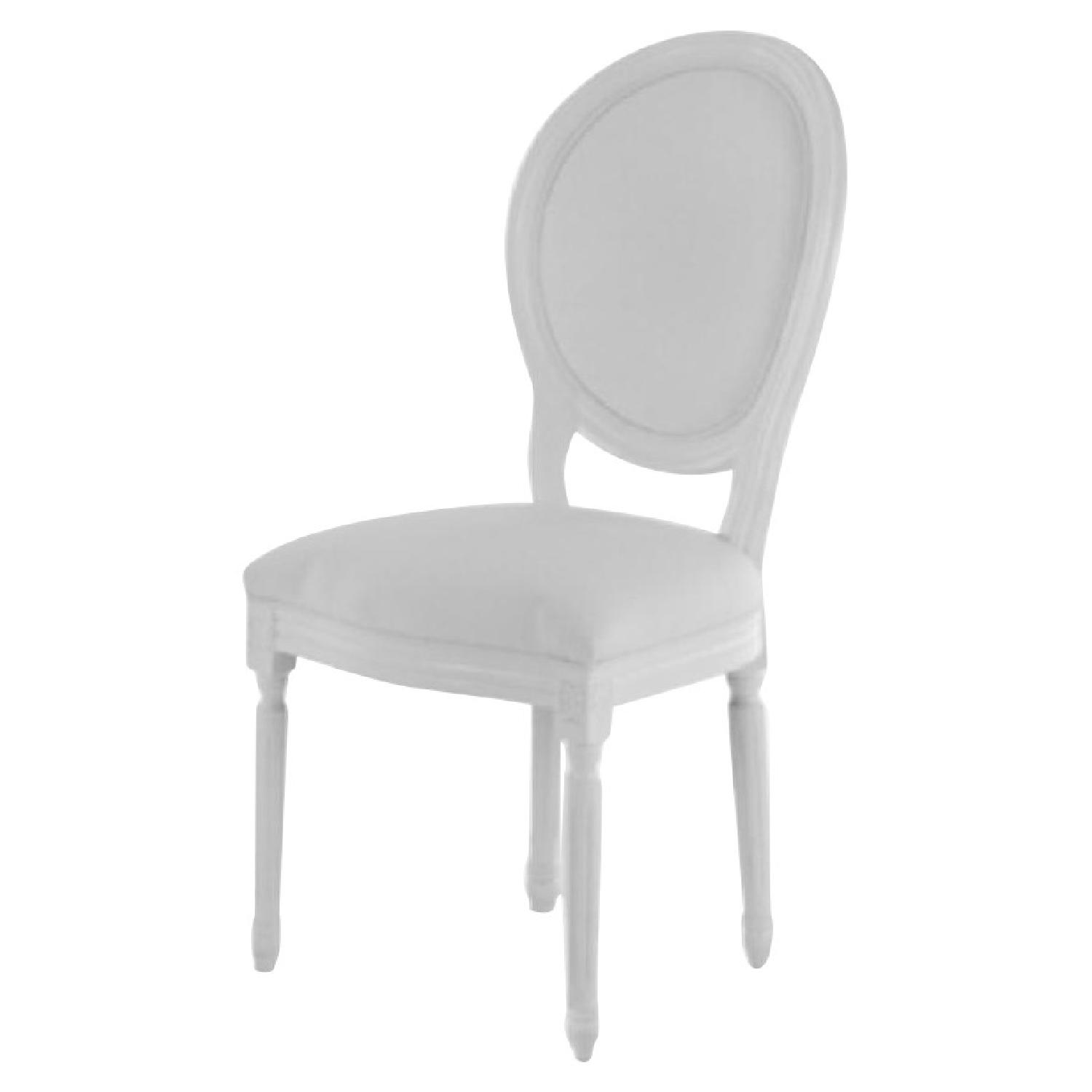 White Louis Style Dining Chairs