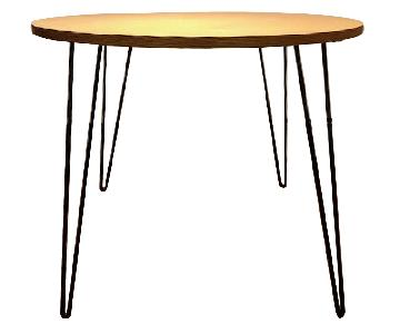 Custom Table Top Dining Table w/ Eames Paperclip Legs