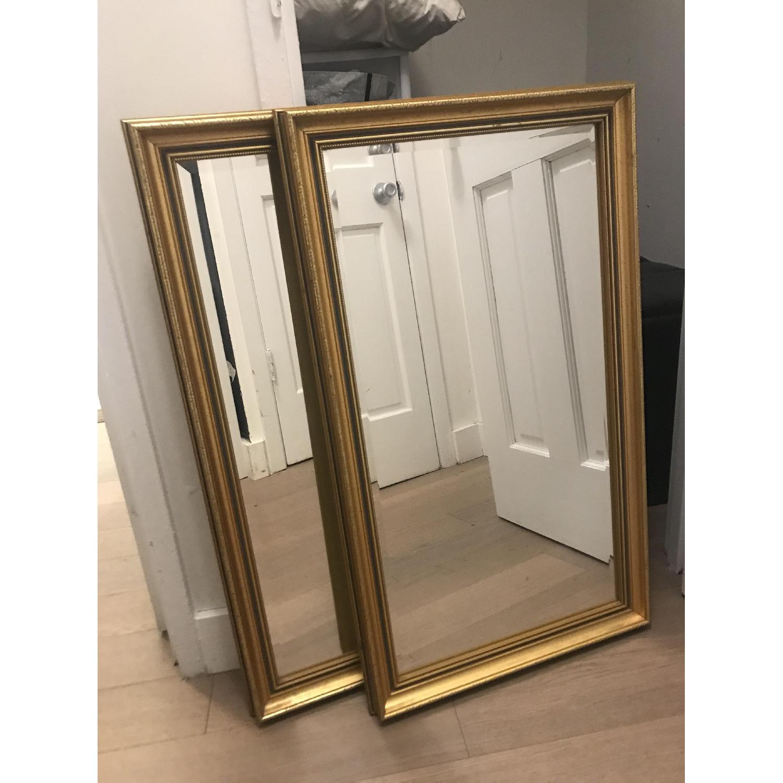 Vintage Gold Rectangular Mirrors-0