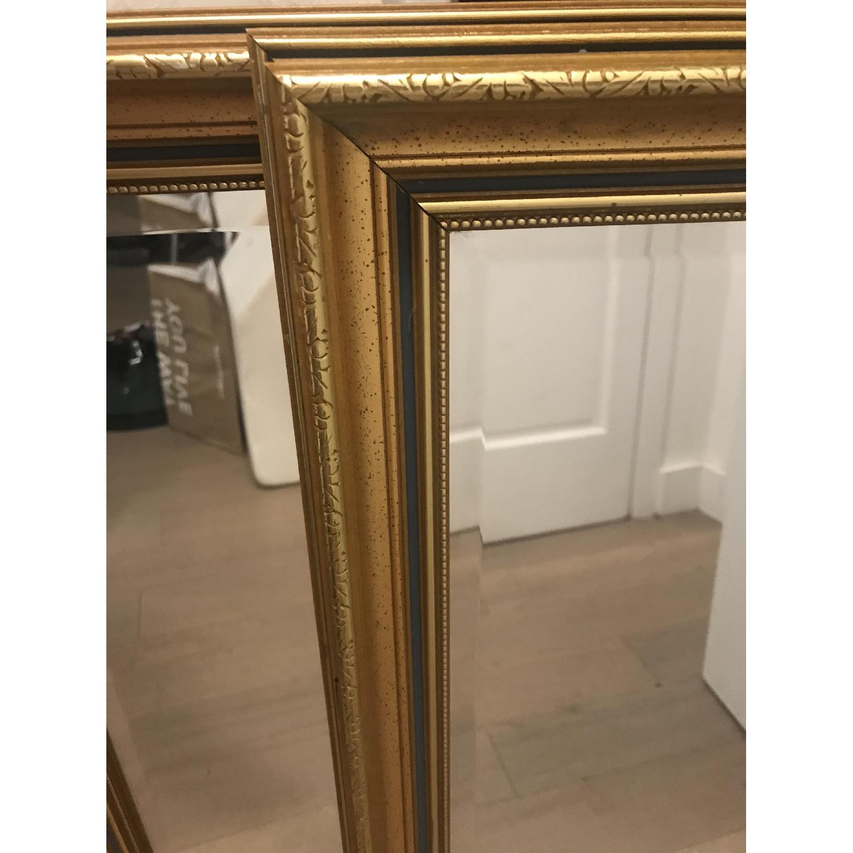Vintage Gold Rectangular Mirrors-1