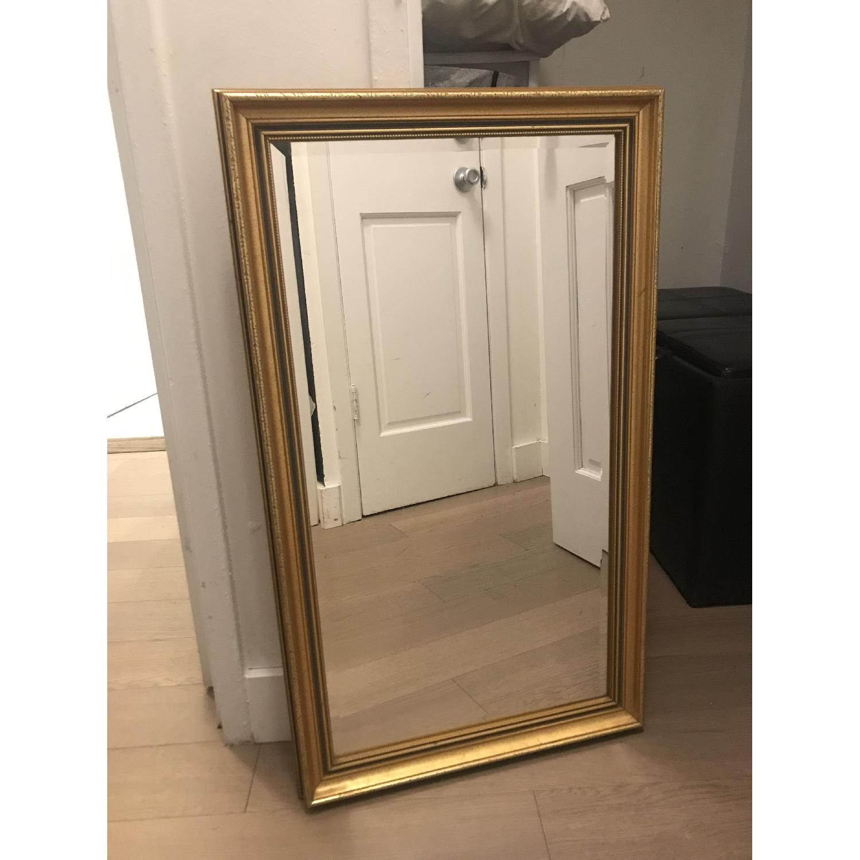 Vintage Gold Rectangular Mirrors-2