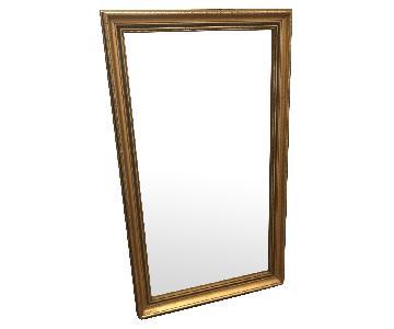 Vintage Gold Rectangular Mirrors