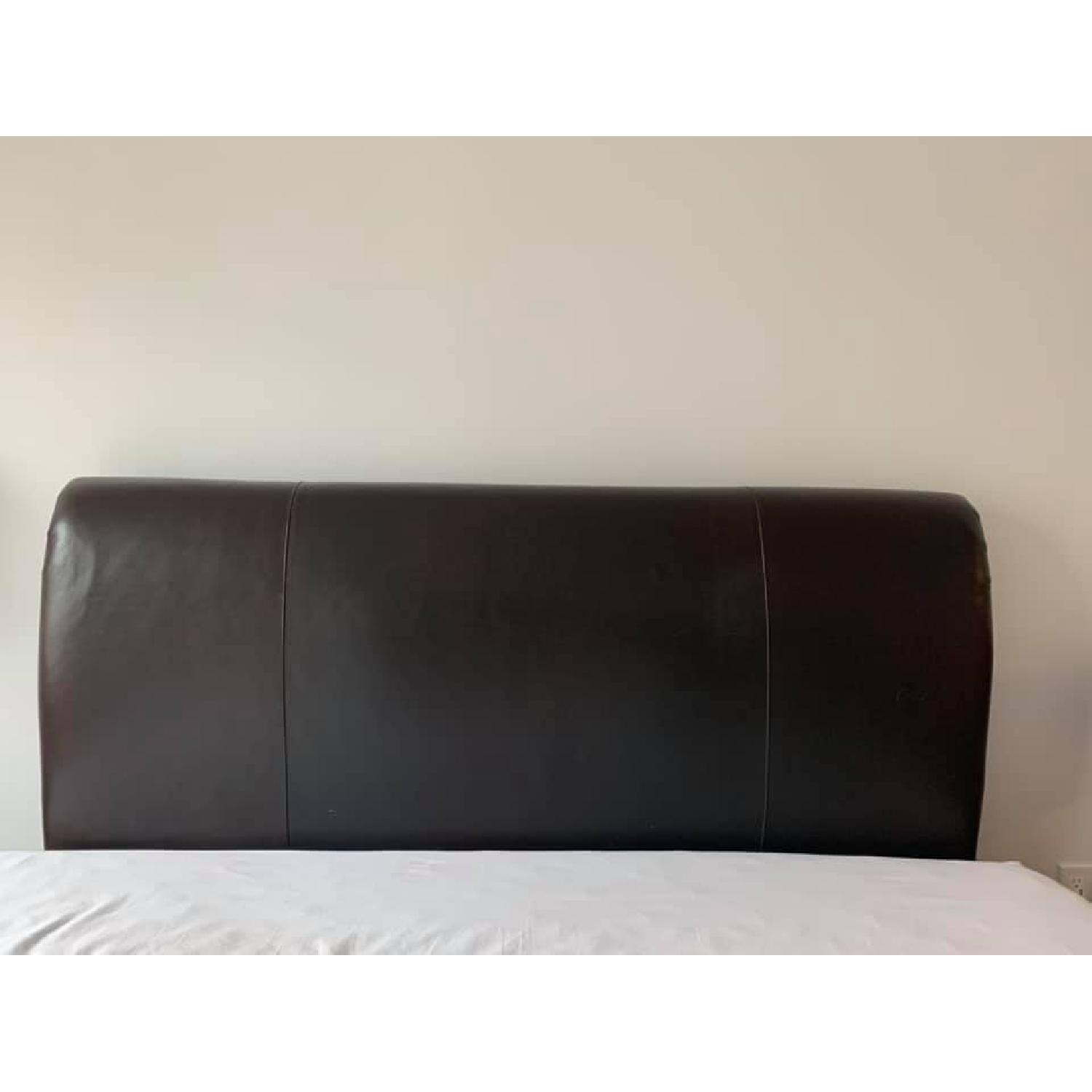 Mitchell Gold + Bob Williams Leather Queen Size Headboard-0