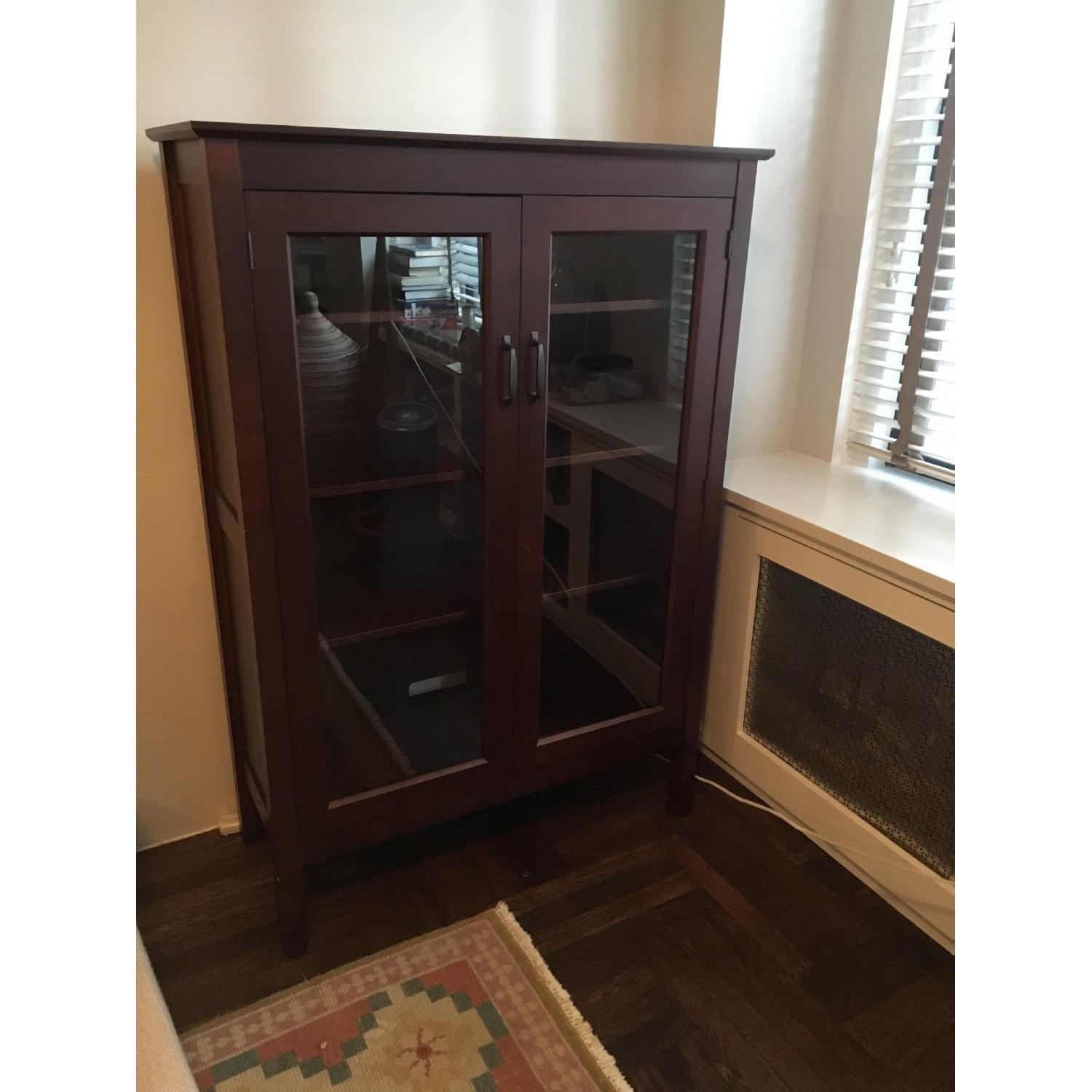 Pottery Barn Bookcase w/ Glass Doors-1