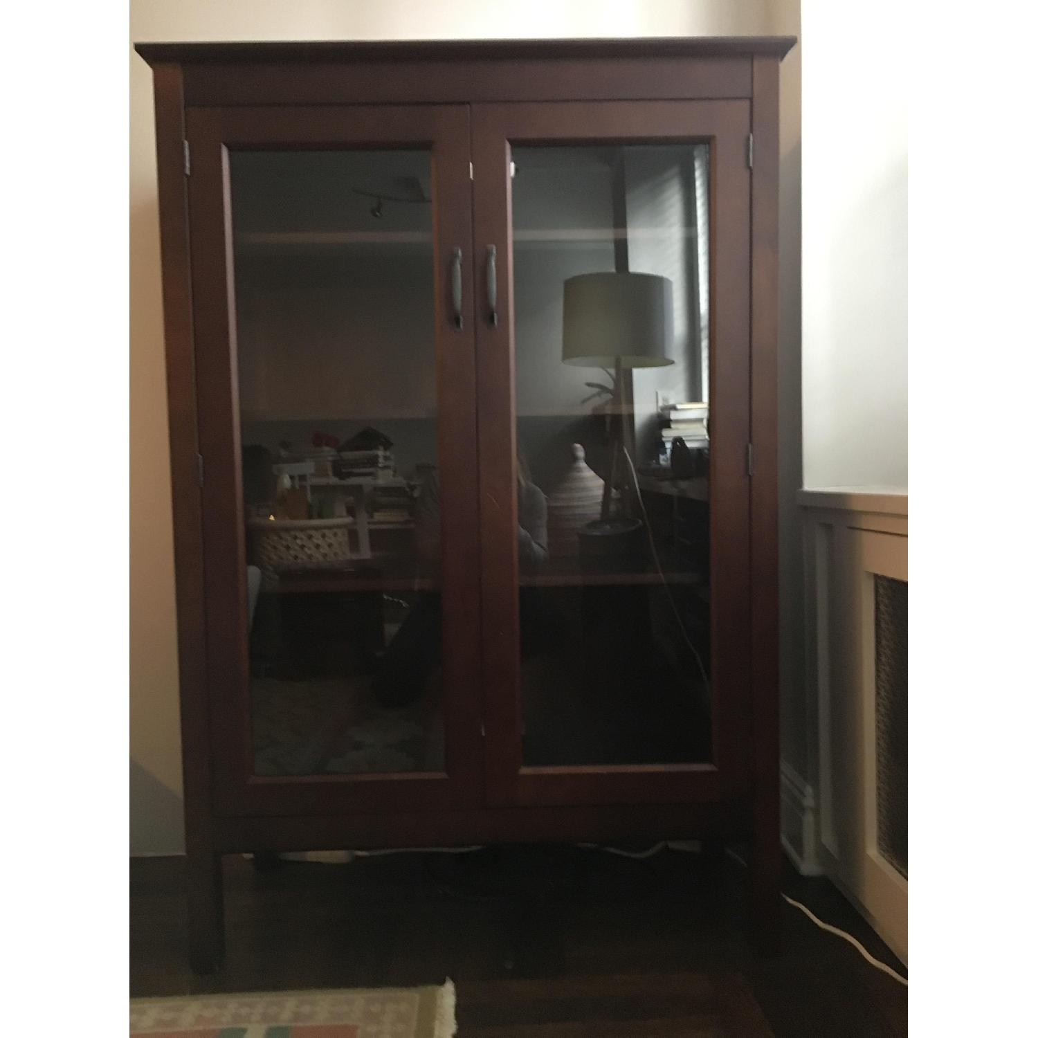 Pottery Barn Bookcase w/ Glass Doors-3