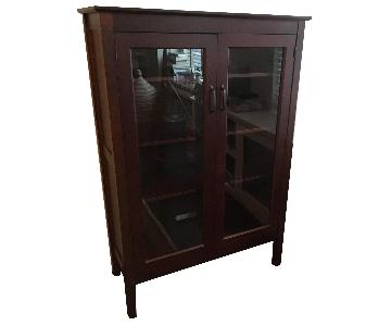 Pottery Barn Bookcase w/ Glass Doors