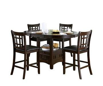 Counter Height Dining Table w/ 4 Chairs
