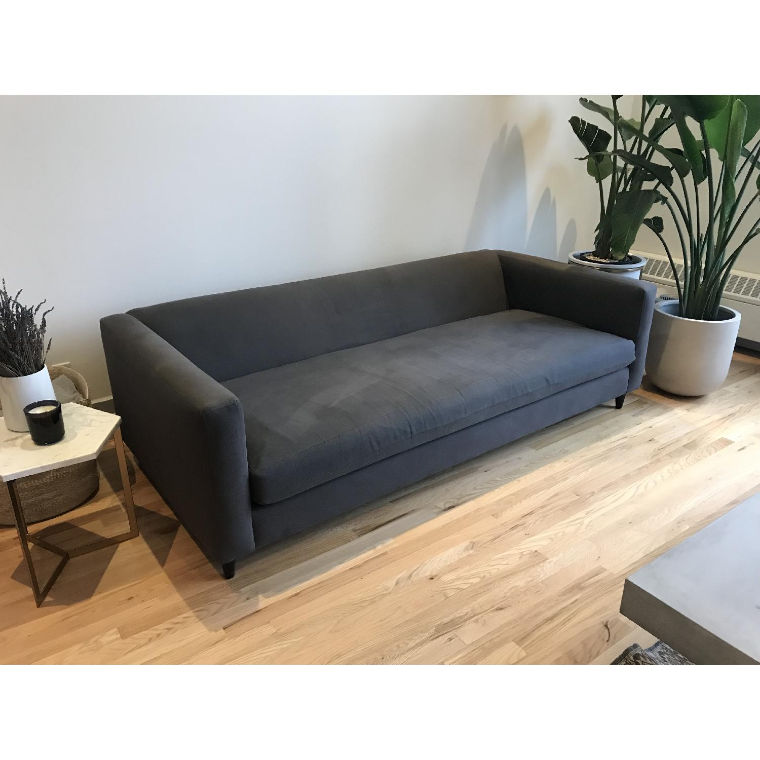 CB2 Movie Sofa in Dark Grey/Blue-1
