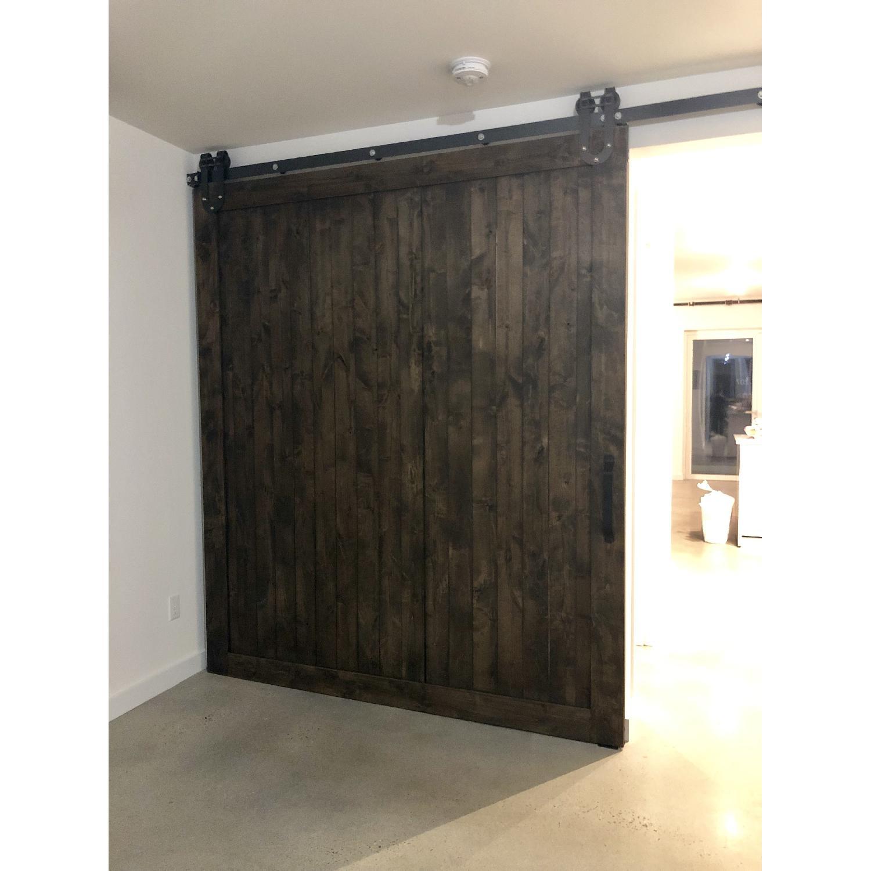 Reclaimed Wood Barn Door w/ Mounting Hardware-0