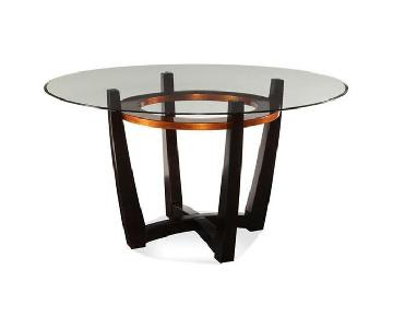 Raymour & Flanigan Glass Dining Room Table
