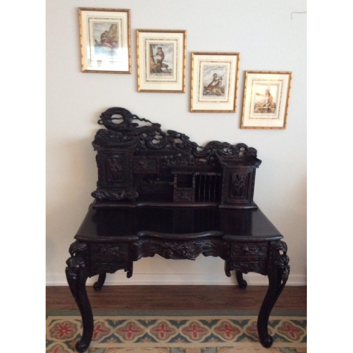Chinese Hand Carved Desk-0