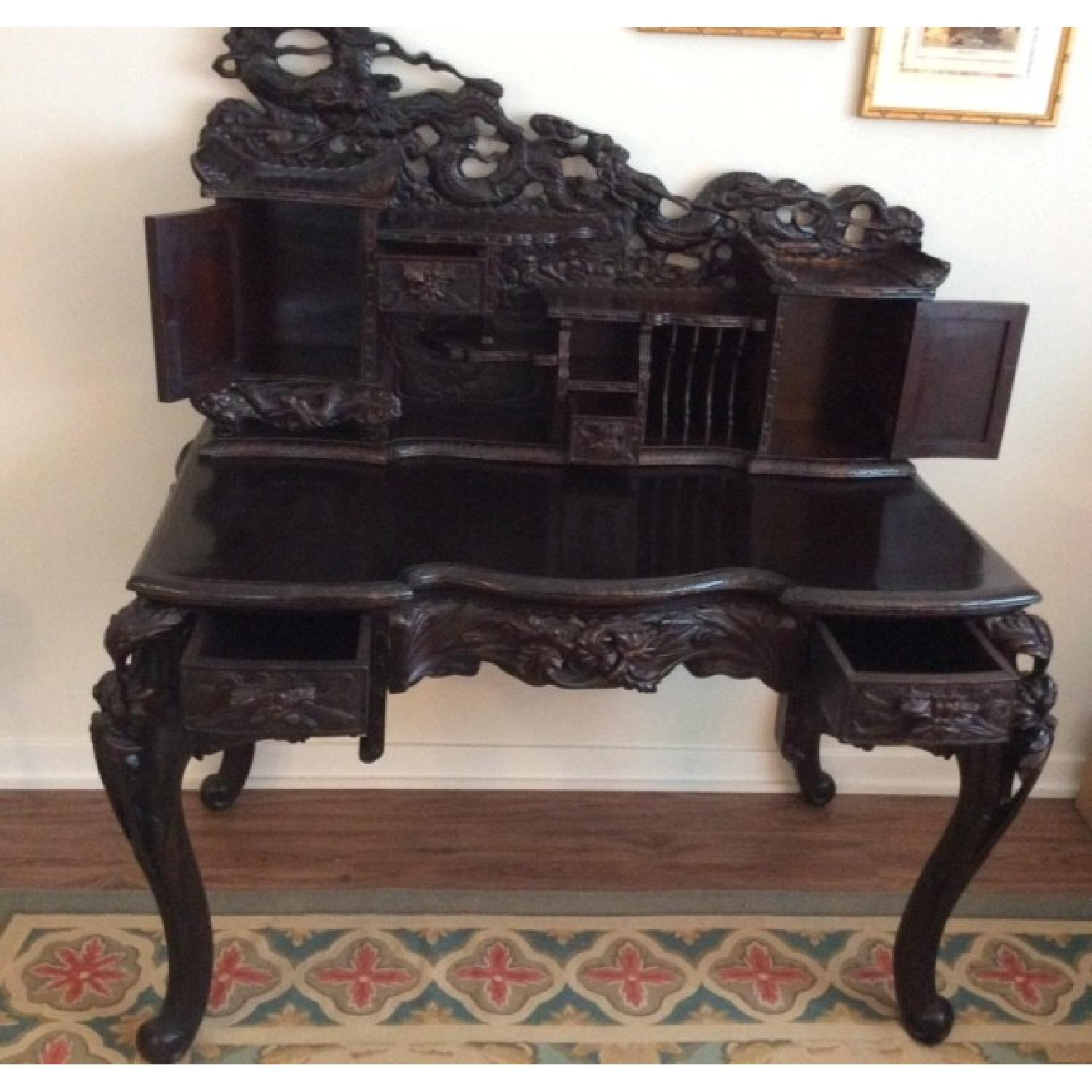 Chinese Hand Carved Desk-2
