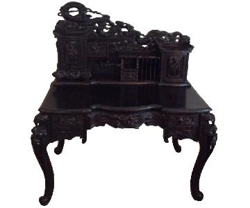 Chinese Hand Carved Desk