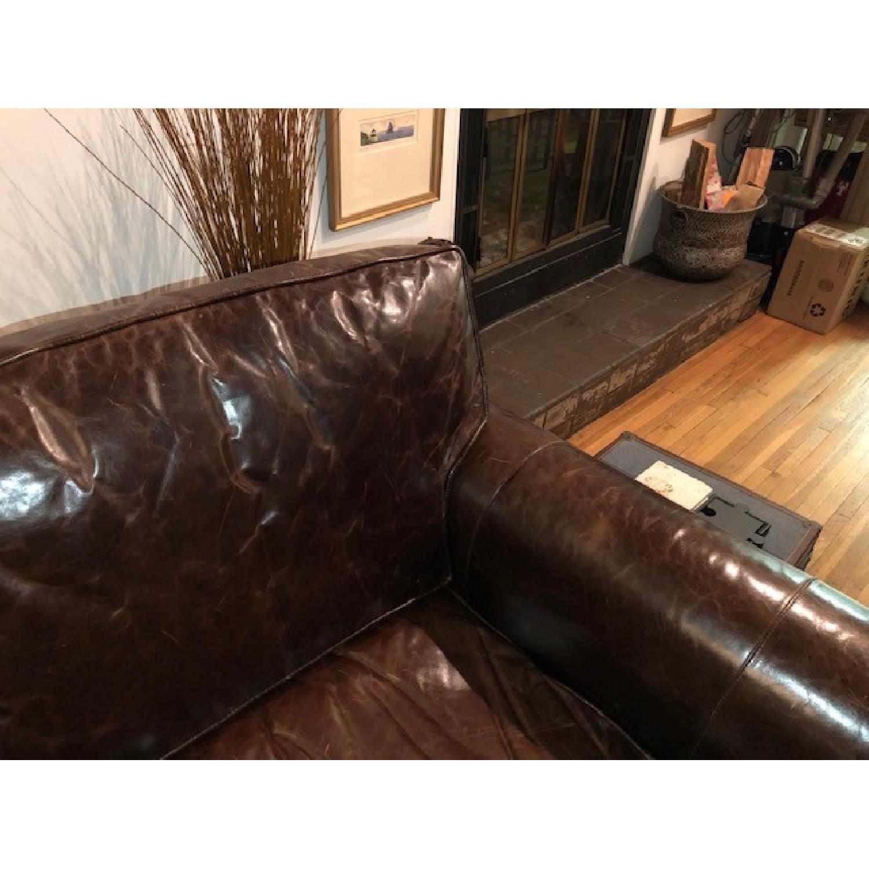 Restoration Hardware Lancaster Leather Sleeper Sofa-3