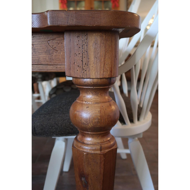Vintage Solid Oak Dining Table-1