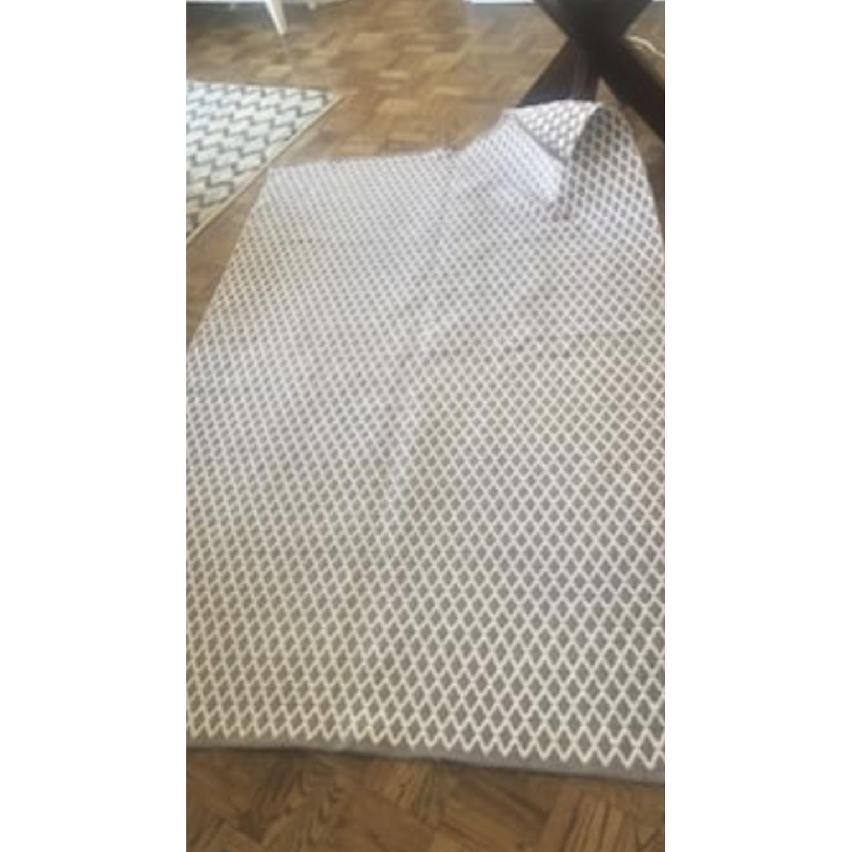 Gray/White Geo Print Area Rug-0