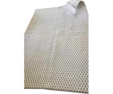 Gray/White Geo Print Area Rug