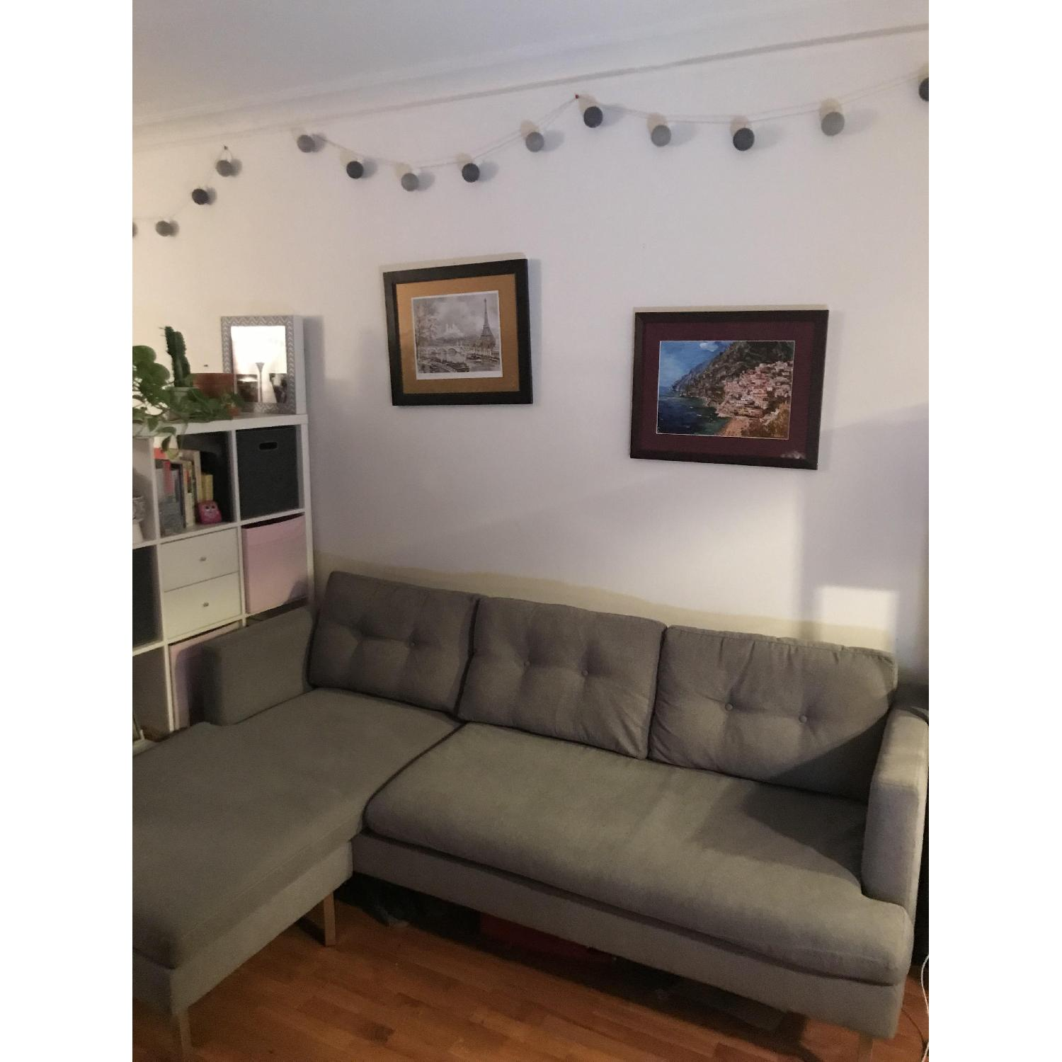 West Elm Sectional Sofa w/ Chaise Lounge-0