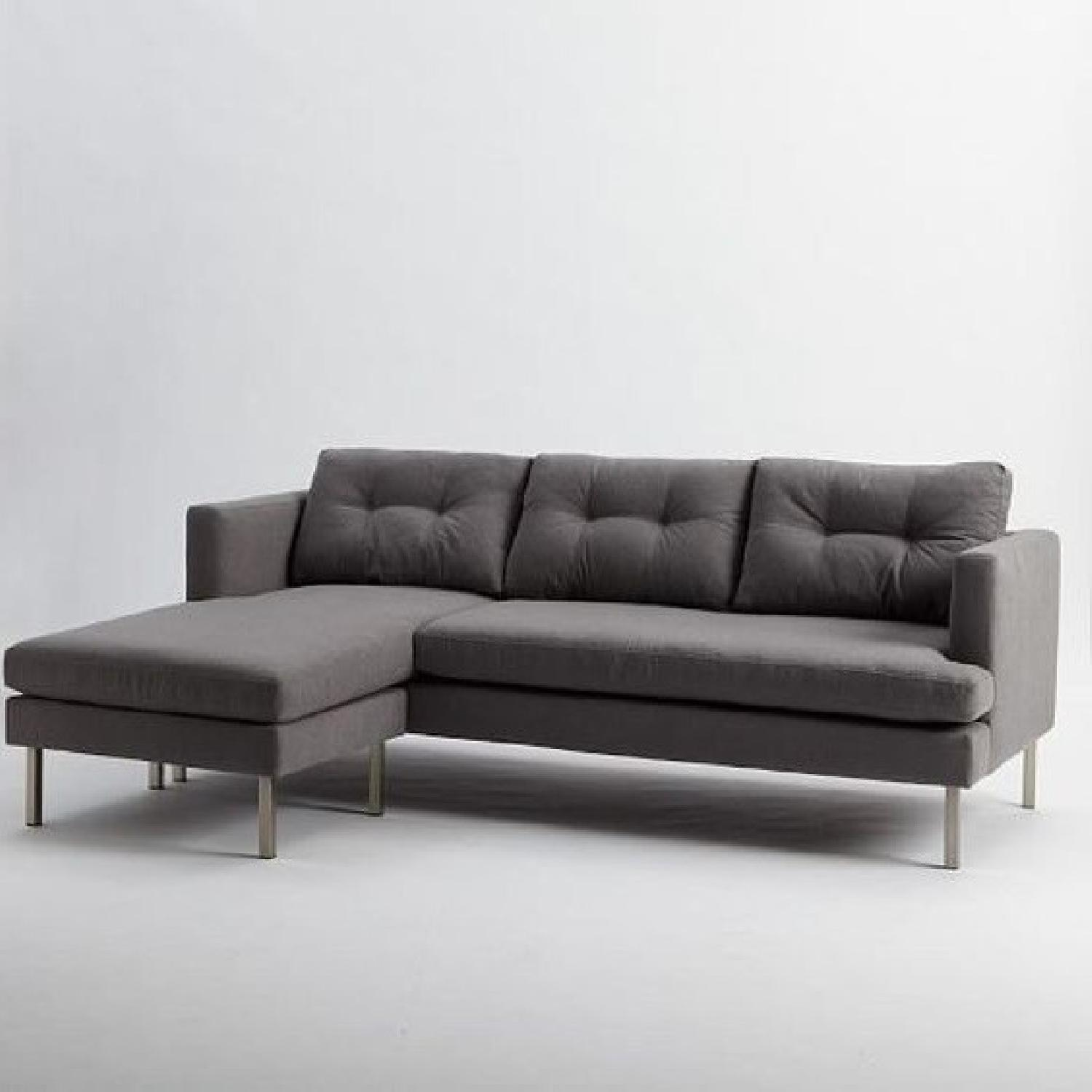 West Elm Sectional Sofa w/ Chaise Lounge-4