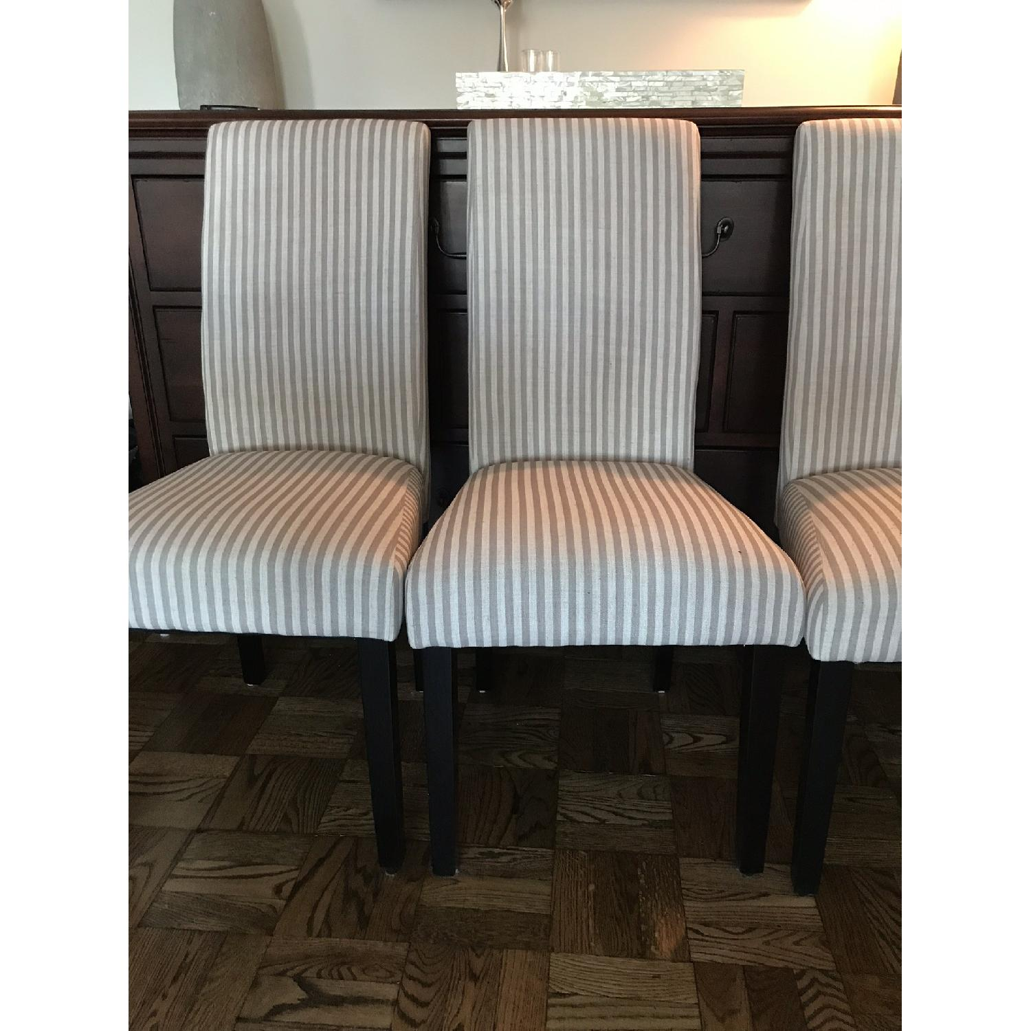 One Allium Way Striped Parsons Dining Chairs-0