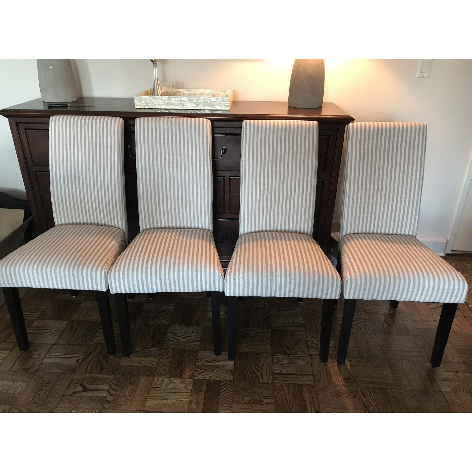One Allium Way Striped Parsons Dining Chairs-1
