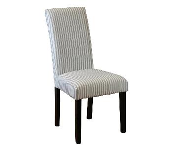 One Allium Way Striped Parsons Dining Chairs